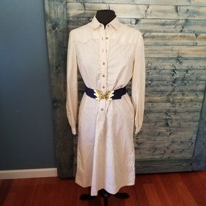 True Vintage Western Shirt Dress